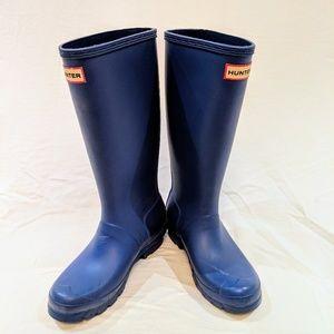 Hunter Big Kid's Original Rain Boot Cobalt Blue